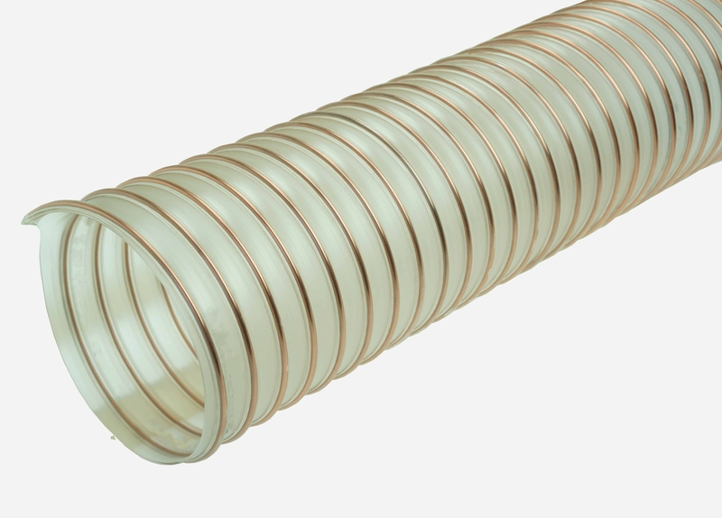 Flexible Duct Hose : Ether flex pu polyurethane ducting food grade